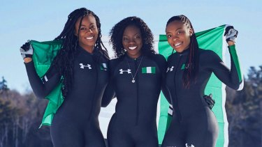 Nigerian boblsedders Akuoma Omeoga, Seun Adigun and Ngozi Onwumere will field the first bobsled team from the entire continent of Africa in PyeongChang.