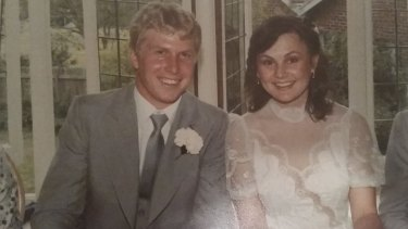 Merran and Mark's wedding in October 1982.