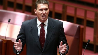 Cory Bernardi in action in the Senate.