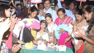 Dr Ganesh Rakh orders cakes and a party for every baby girl he delivers.