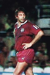 The night it all began: Arthur Beetson runs out for Queensland in the first State of Origin match.