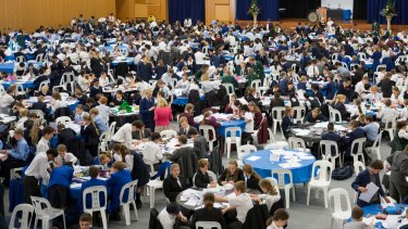 Teams competing in a da Vinci Decathlon round in Sydney.