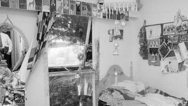 The flywire in Eloise's bedroom had been cut and the window wound out as far as it could go.