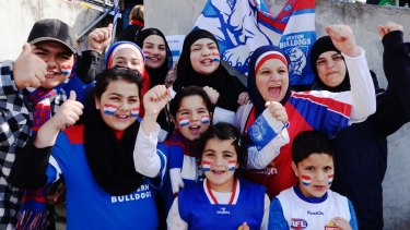 Western Bulldogs fans loud and proud at Whitten Oval.