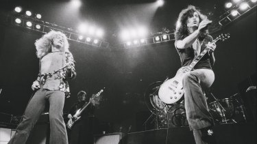 Robert Plant and Jimmy Page front Led Zeppelin. The band's hit  <i>Stairway to Heaven</i> has earned hundreds of millions since it was released in 1971.
