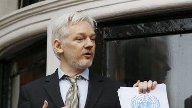 Julian Assange at Ecuadorian embassy.