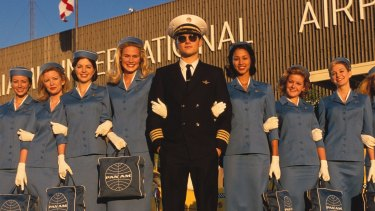 Frank Abagnale portrayed by Leonardo DiCaprio in the 2002 film <i>Catch Me If You Can</i>.