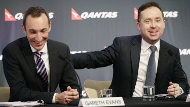 Gareth Evans and Qantas chief executive, Alan Joyce.