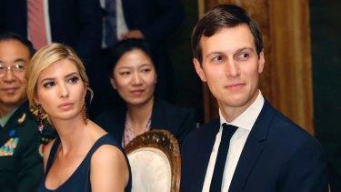 Ivanka Trump and husband Jared Kushner, with Chinese president Xi Jinping at Mar-a-Lago.