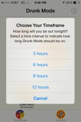 With the ap, you can choose how long you want to lock your phone.