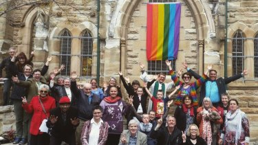A rainbow flag, which has flown outside the front of a Uniting Church in the Redfern-Waterloo area, has been cut down twice in the past three weeks.