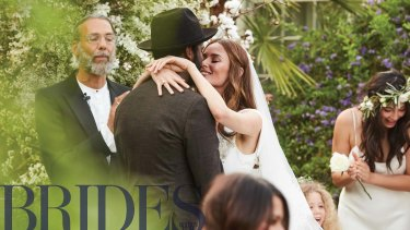 Nicole Trunfio marries Gary Clark Jr. in Coachella style wedding.