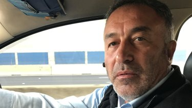 Yusuf Ozyilmaz was among the taxi drivers who joined the Bolte Bridge go-slow. Picture: Adam Carey