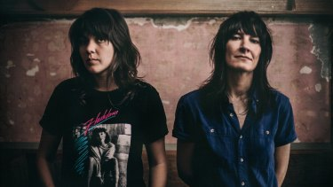 The success of Courtney Barnett (left) has created feelings of jealousy and admiration for her partner and fellow musician Jen Cloher.
