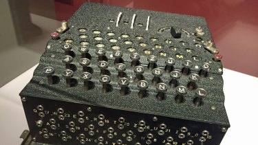 The Engima cipher machine – another amazing technical achievement which assisted the German war effort – on display at Museum fur Kommunikation Berlin.