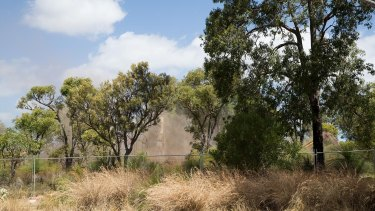 Residents fear the dust from the clearing of Roe 8 could contain asbestos.