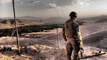 Curtis McGrath on duty in Afghanistan.