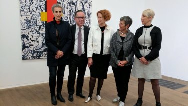 Qantas CEO Alan Joyce at Tate Modern in London launching the gallery's first Australian artwork,