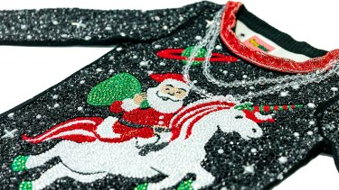 "The ""world's most expensive ugly Christmas sweater""."