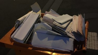 The private documents in the bin included medical records and copies of cheques.