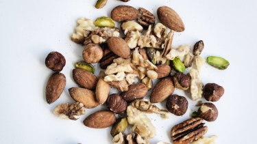 Nuts: a good source of fibre.