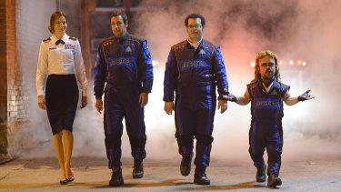 The stars of <i>Pixels</i> are back in the game.
