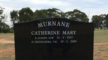 The Murnane family grave in Goroke cemetery.