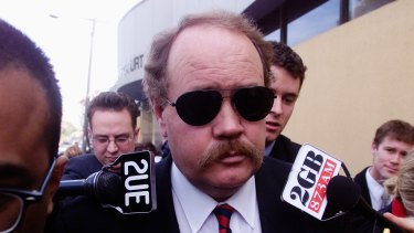 Bruce Burrell during the inquests into the deaths of Kerry Whelan and Dorothy Davis.