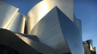 The Walt Disney Concert Hall, designed by Frank Gehry.
