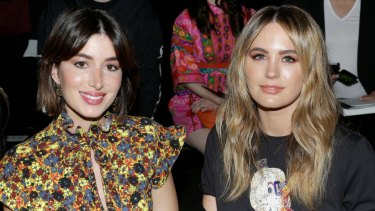 Jesinta Franklin (right) and fashion blogger Carmen Hamilton at the Coach spring 2018 show during New York Fashion Week.