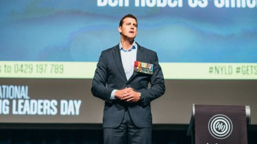 Victoria Cross winner Ben Roberts-Smith inspired students at the Young Leaders Day event.