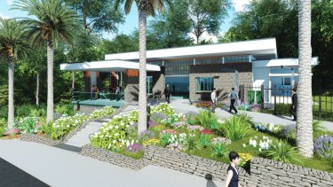 New tourist information centre at Mt Coot-tha Botancial Gardens.