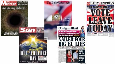 Britain's leading newspapers urged Britons both ways as they began voting in the EU Referendum.