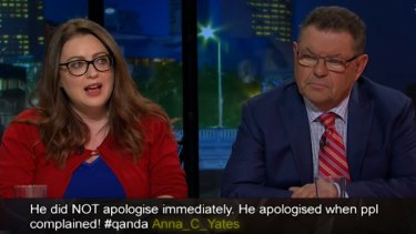 Confrontation: Steve Price dismissed Van Badham's comments as 'hysterical'.
