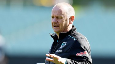 Staying put: Port Adelaide coach Ken Hinkley.