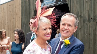 Opposition Leader Bill Shorten and his wife, Chloe Shorten, at last year's Melbourne Cup.