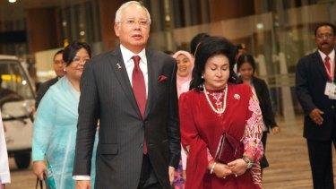 Malaysia Prime Minister Najib Razak with his wife Rosmah Mansor.