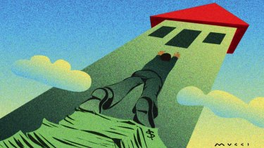 House prices are getting more and more out of reach for first-time buyers. Illustration: Michael Mucci