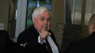 Clive Palmer at Brisbane's Federal Court during the public examinations into the affairs of Queensland Nickel.
