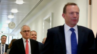Former prime minister Tony Abbott (right) told the meeting that the poor result in NSW emphasised the need for great reform.