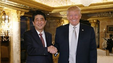 President-elect Donald Trump meets and Japanese Prime Minister Shinzo Abe might be able to thrash out a bilateral trade deal.
