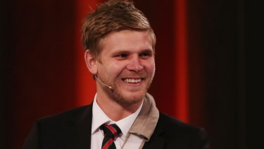Staying or going? Banned Bomber Michael Hurley.