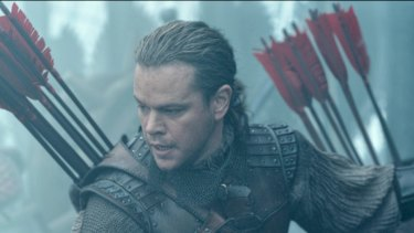 Matt Damon gives a starchy performance in <I>The Great Wall</I>.