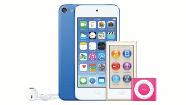 The new iPod Touch, alongside refreshed versions of the iPod Nano and iPod Shuffle.