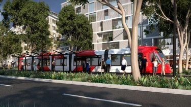 The Baird government gave the green light to a corridor for a 22-kilometre light rail line last year.