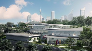 An artist's impression of the Sydney Modern project.