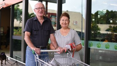 "Geoffrey and Agnes Lawler, on holiday in Airlie Beach from Wollongong in New South Wales, were ""scared stiff"" ahead of the cyclone's arrival."