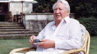 Former British prime minister Sir Edward Heath.