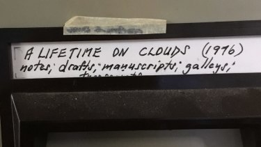 Gerald Murnane's file for A Lifetime on Clouds.