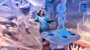 Jasmin Mates found shelter from the heat at IceBar in Fitzroy.